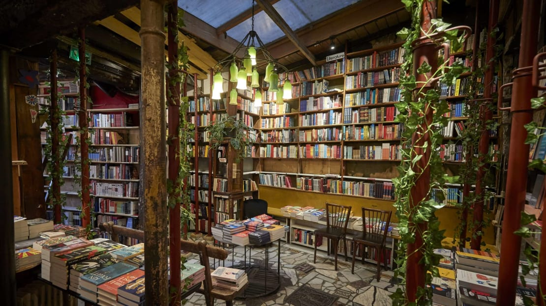 Shakespeare and Company in Paris.