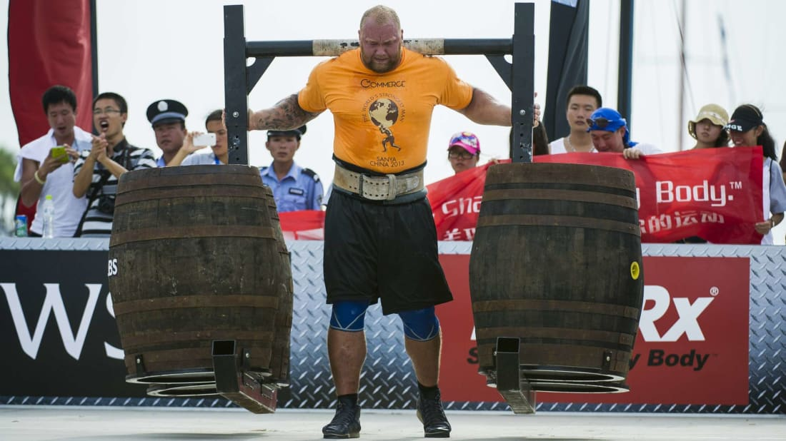 Game of Thrones alum Hafþór Björnsson competing in the World's Strongest Man competition back in 2013.