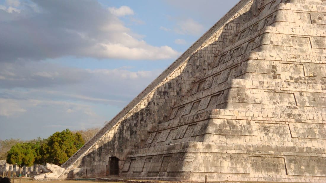 A shadowy serpent appears at Chichen Itza on the equinox.