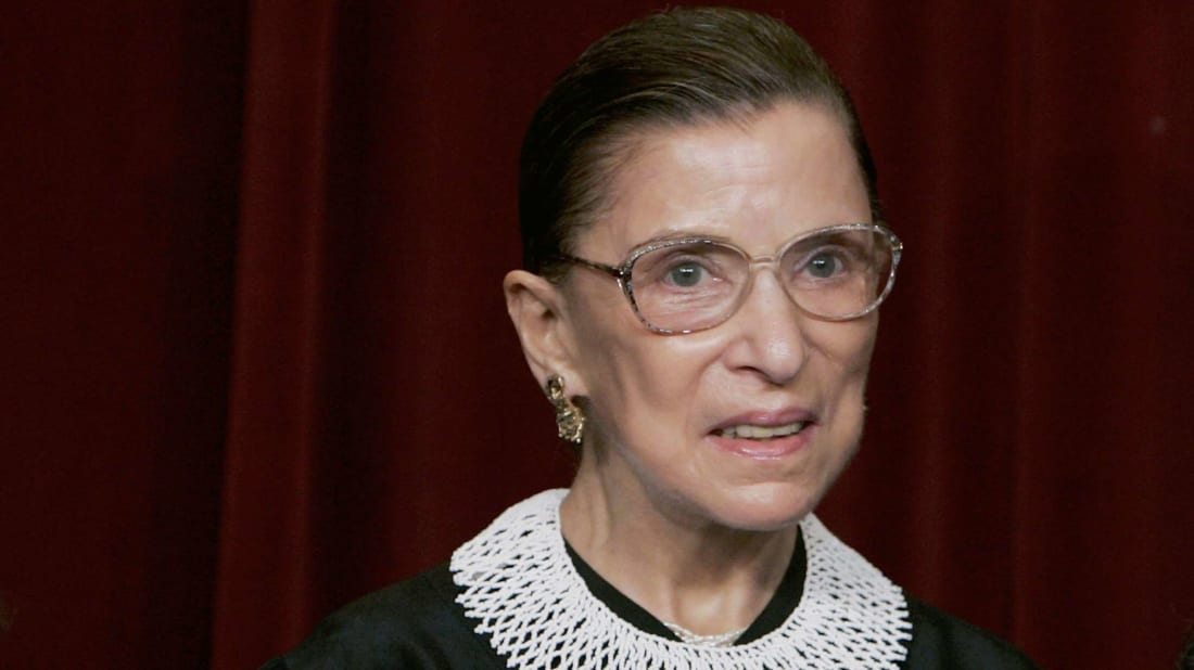 Ruth Bader Ginsburg during a Supreme Court photo shoot in 2006.