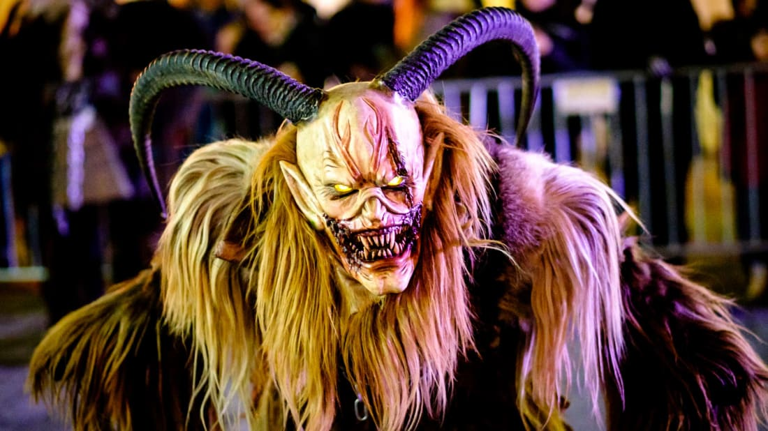 A Krampus figure in Heimstetten, Germany