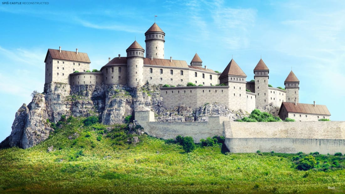 A reconstruction of Spiš Castle in eastern Slovakia.
