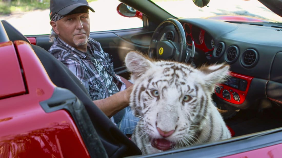 A scene from Tiger King: Murder, Mayhem and Madness (2020).