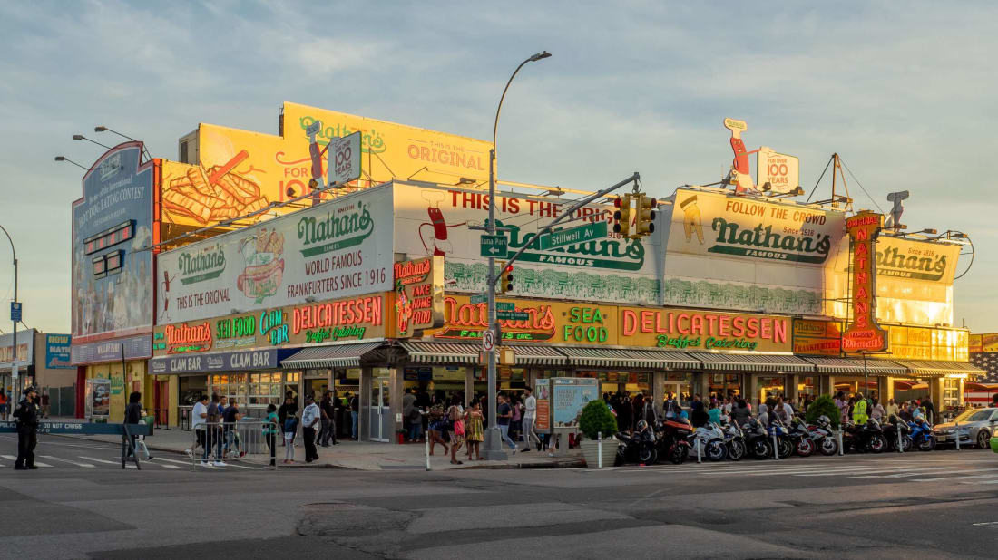 Nathan's Famous is a staple of Coney Island.