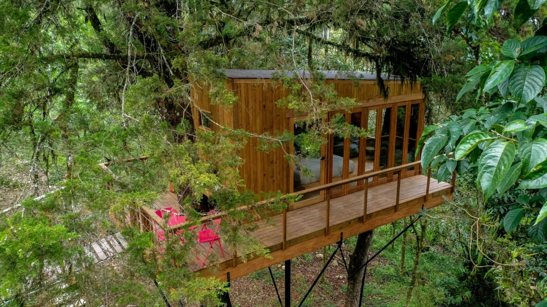 A treehouse vacation rental in Colombia.