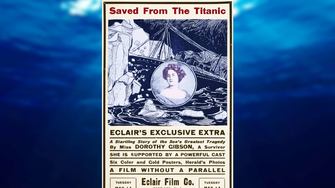 The poster for 1912's Saved From the Titanic, a film you'll never see.