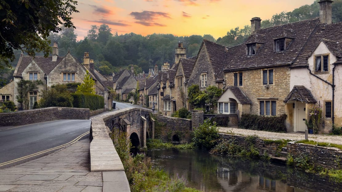 Castle Combe, where time evidently stopped about 400 years ago.