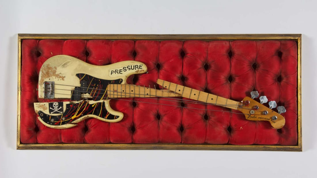 Paul Simonon's Fender Precision bass, which he smashed onstage at New York City's Palladium on September 21, 1979.