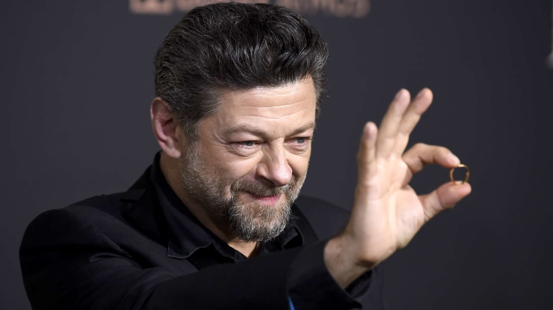 Andy Serkis and his precious at the premiere of The Hobbit: The Battle Of The Five Armies in 2014.