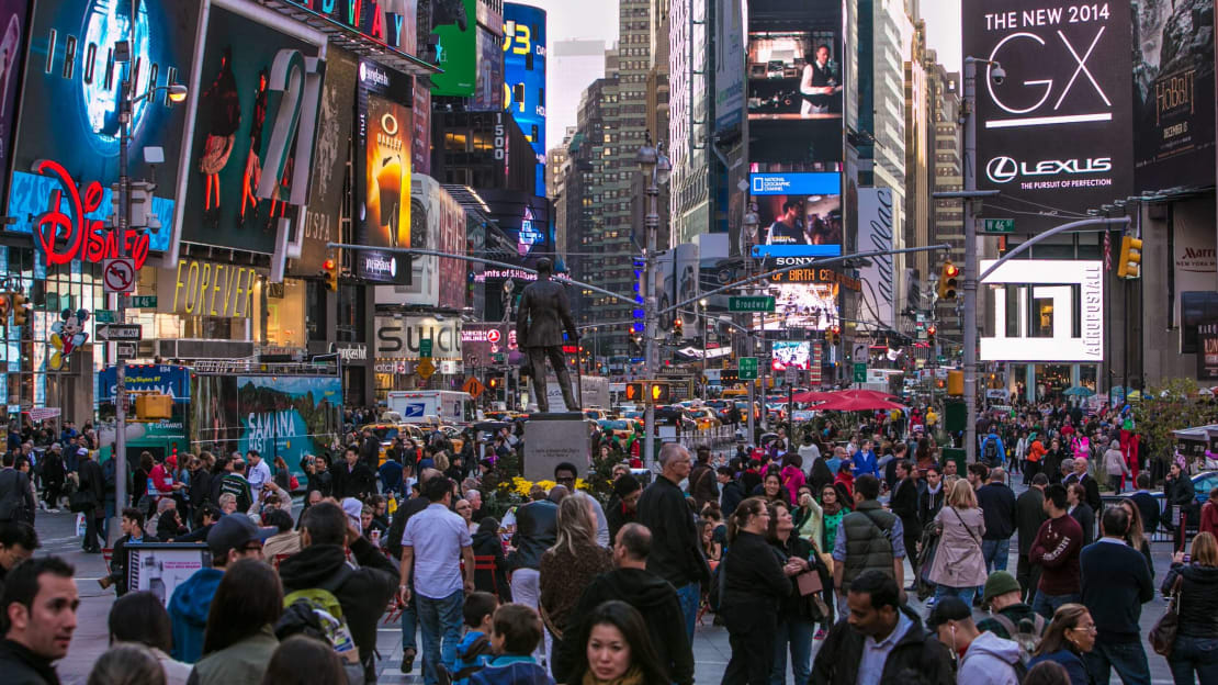 Just a normal day in New York City's Times Square in 2013.