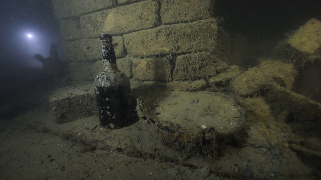 Nearly 200-year-old champagne that someone drank.