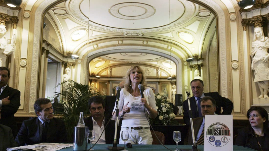Alessandra Mussolini, the granddaughter of Benito Mussolini.