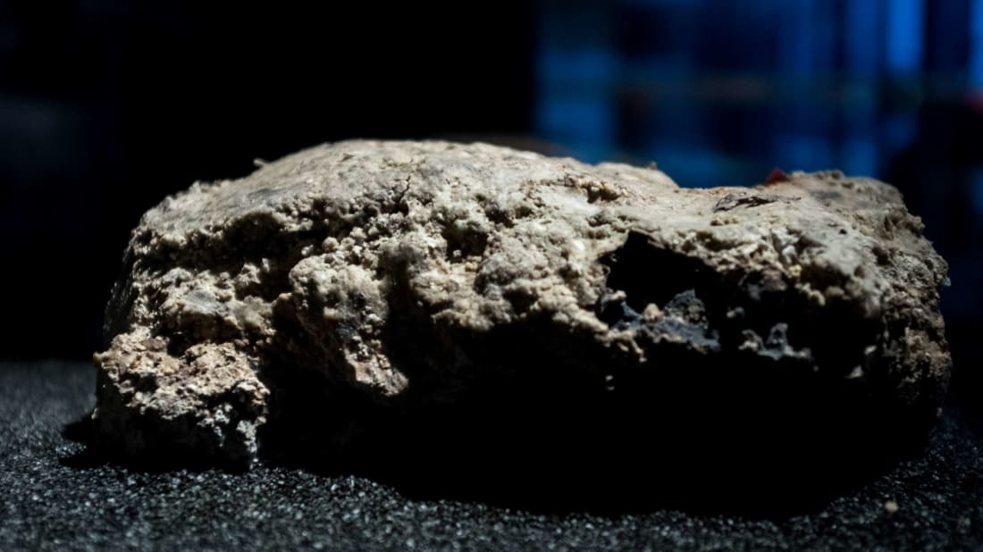 A piece of fatberg from the sewer systems under London's Whitechapel neighborhood on display at the Museum of London. And if you think this piece is gross, you should have seen the fatberg when it was in the sewer.