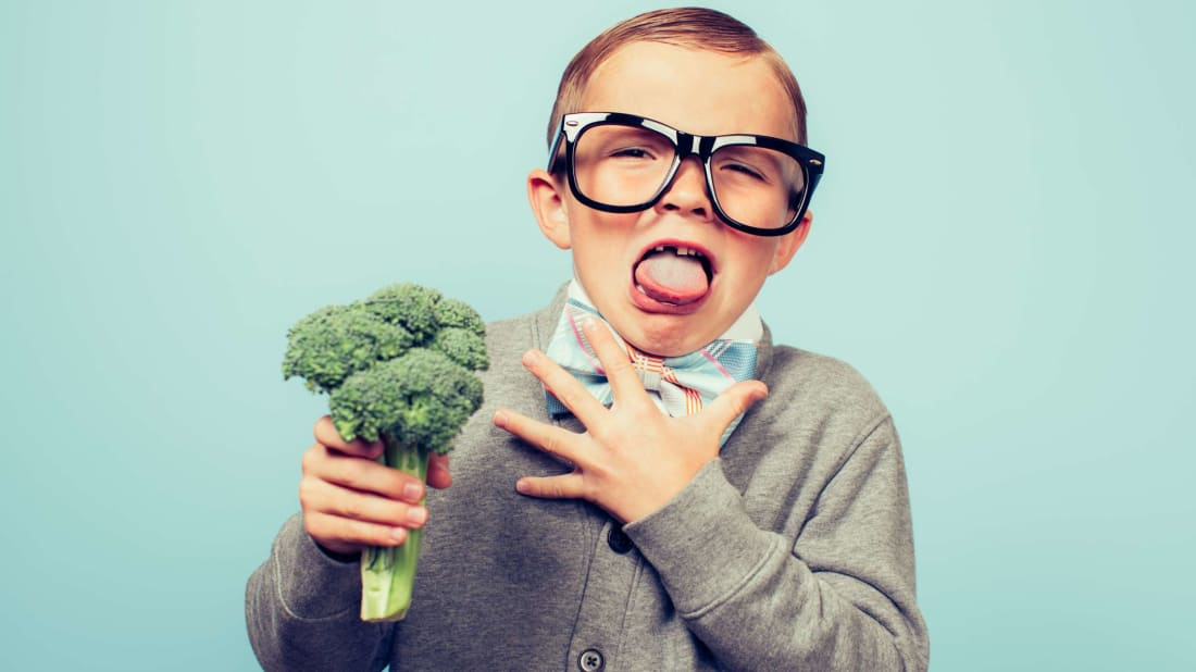 Like this kid, George H.W. Bush really, really hated broccoli.
