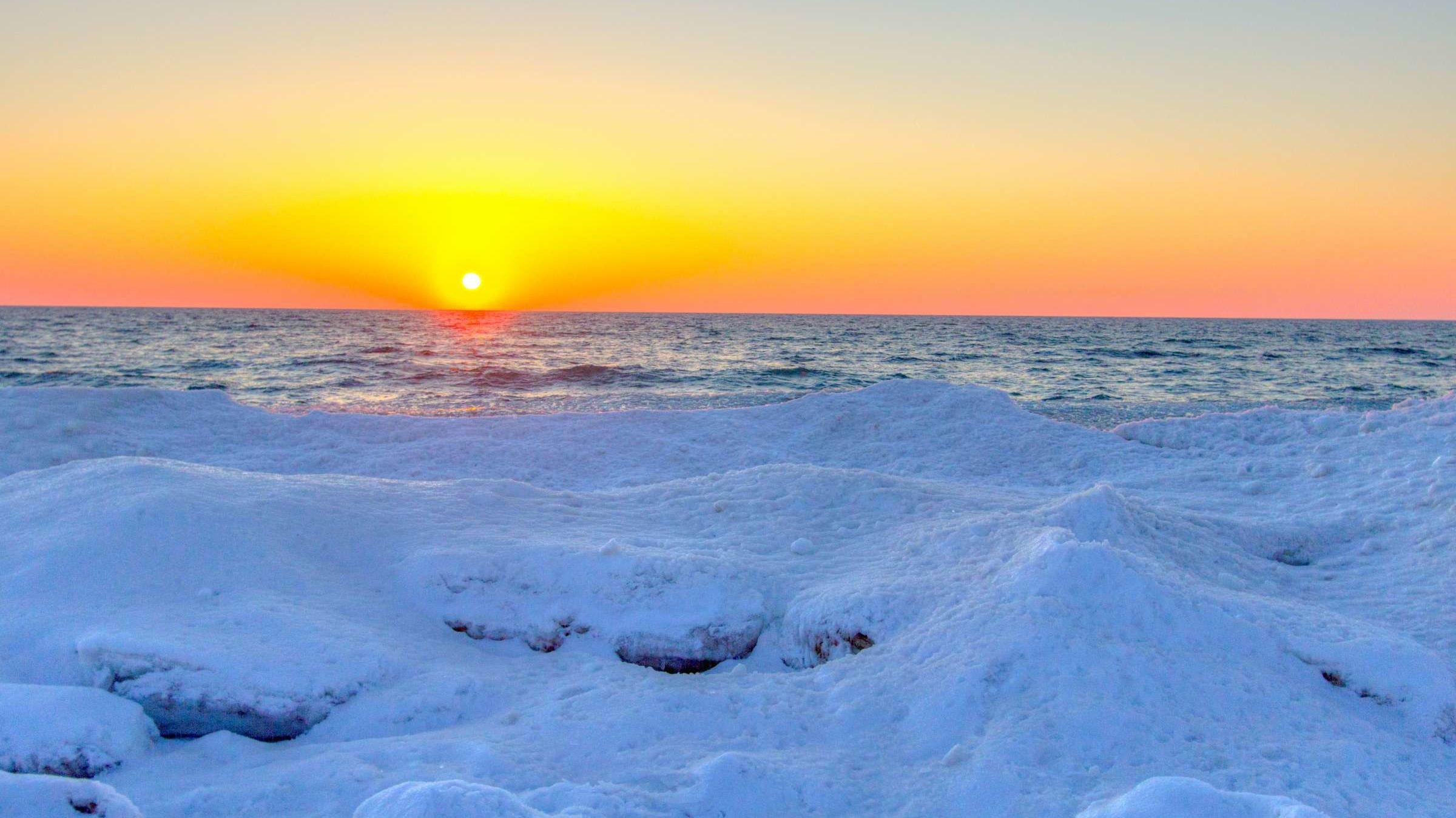 Watch: Rare 'Ice Volcanoes' Are Erupting on a Michigan Beach