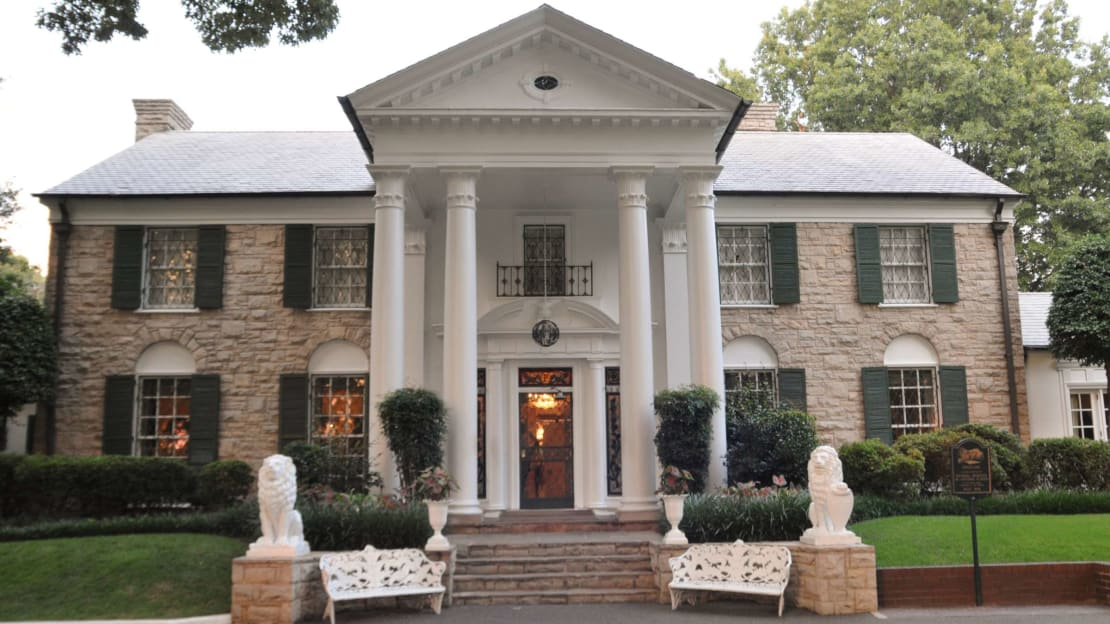 The Graceland mansion in Memphis, Tennessee.