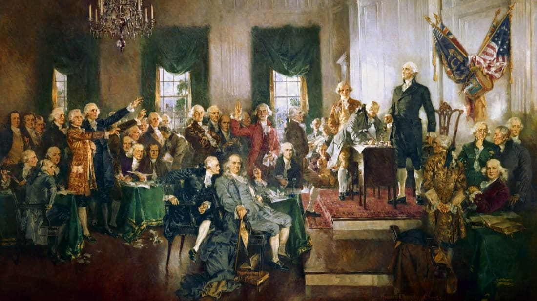 Scene at the Signing of the Constitution of the United States by Howard Chandler Christy, 1940