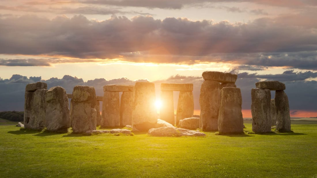 Sunrise at Stonehenge.