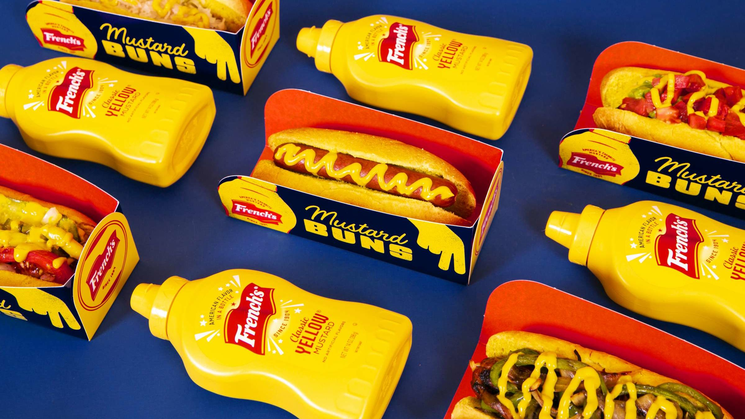 Celebrate National Mustard Day With French's Mustard-Flavored Hot Dog Buns