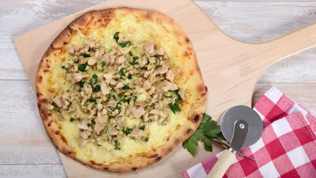 New Haven-style white clam pizza is a Connecticut specialty.
