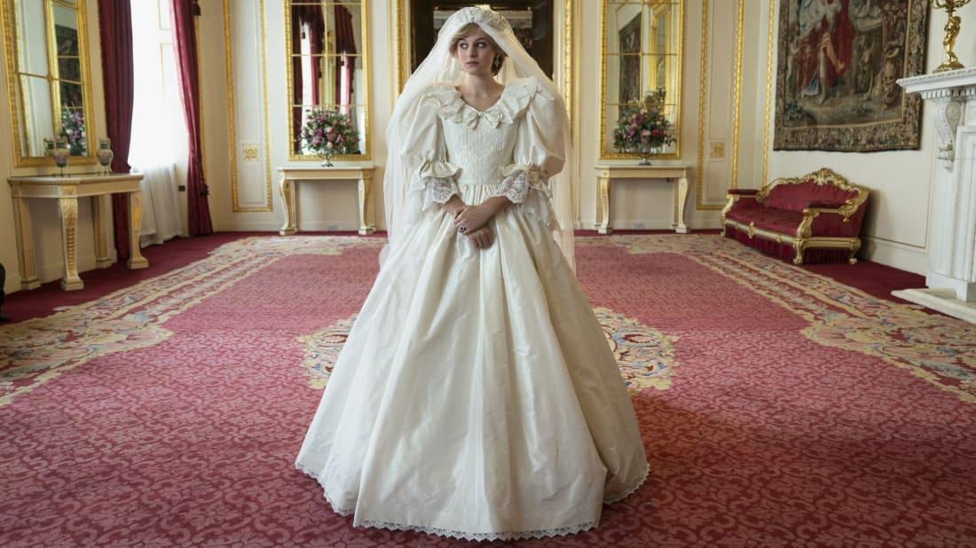 Emma Corrin as Princess Diana in season 4 of The Crown.