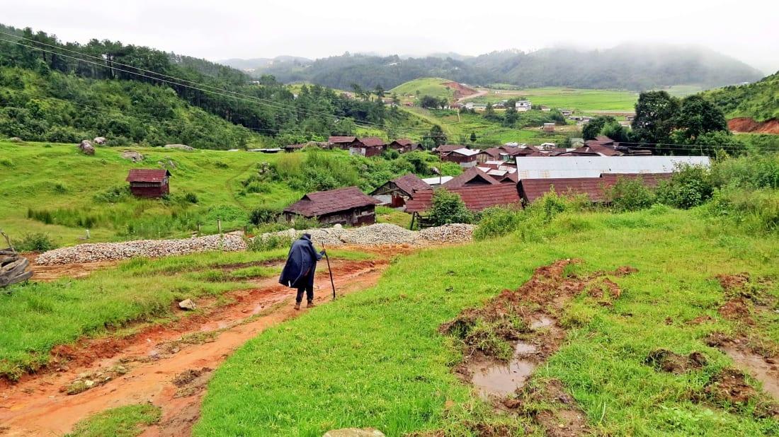 The West Khasi Hills in Meghalaya, India.