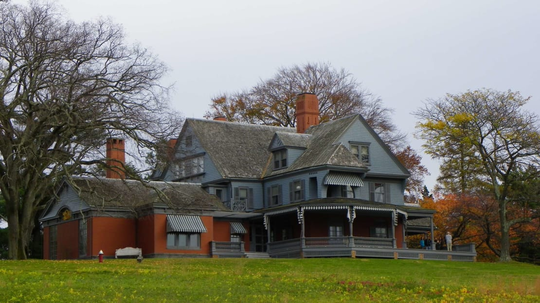 Theodore Roosevelt's Long Island home has 23 rooms and more books than you can count.
