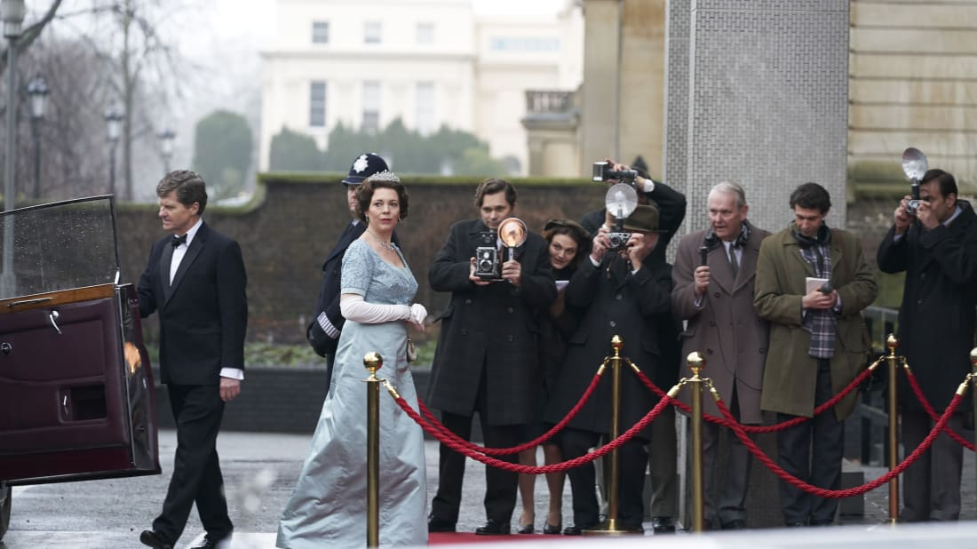 Olivia Colman stars as Queen Elizabeth II in The Crown.