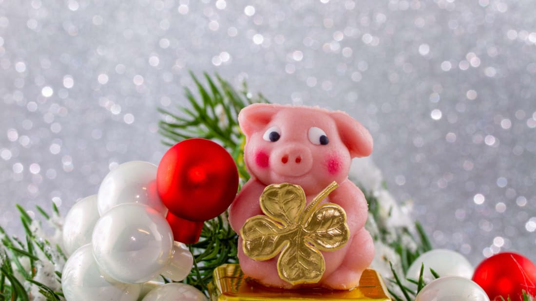 In Germany and Austria, pigs signify good luck—so the animal appears in many forms on New Year's Eve (including mazipan!).