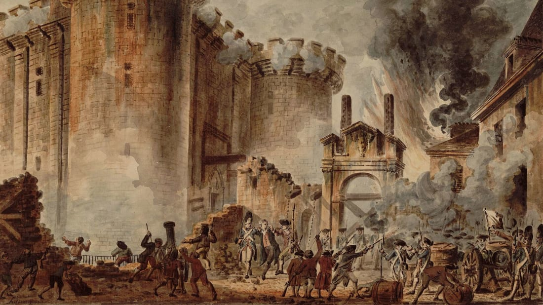 The Storming of the Bastille, by Jean-Pierre Houël.