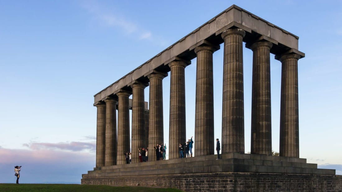 The National Monument of Scotland.