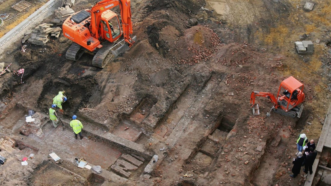 Beneath a parking lot, archeologists uncovered the ruins of a chapel in which Henry VIII prayed.