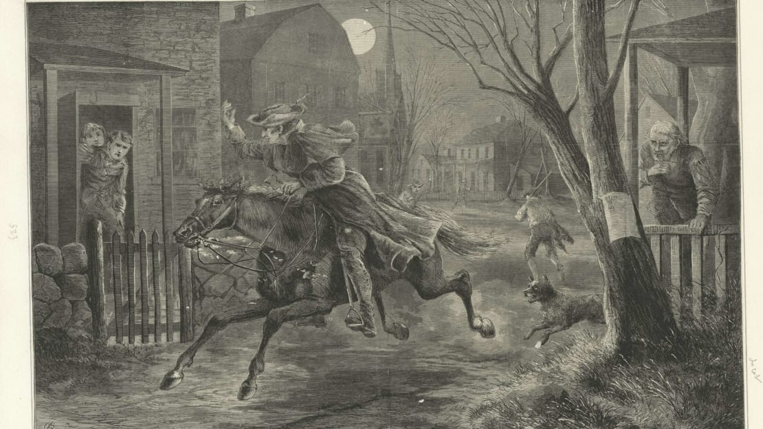 Paul Revere's midnight ride didn't exactly go down like this.