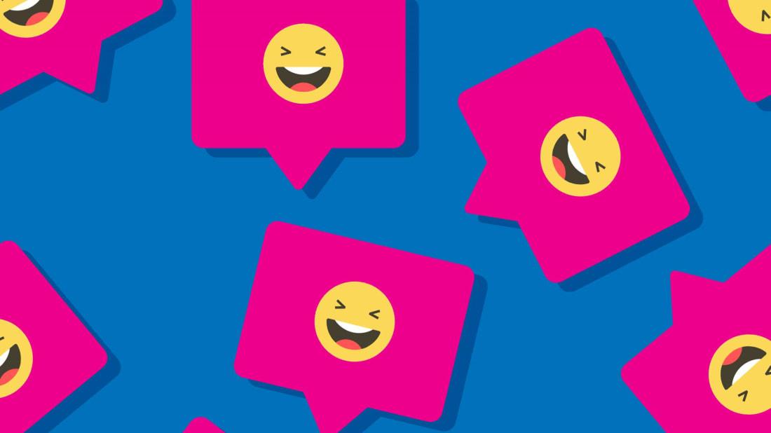 IIIerlok_Xolms (emoji), JakeOlimb (speech bubbles)/iStock via Getty Images Plus