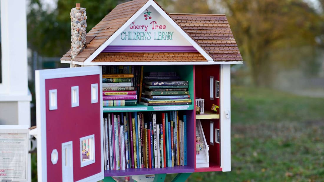 A Little Free Library in Traverse City, Michigan.