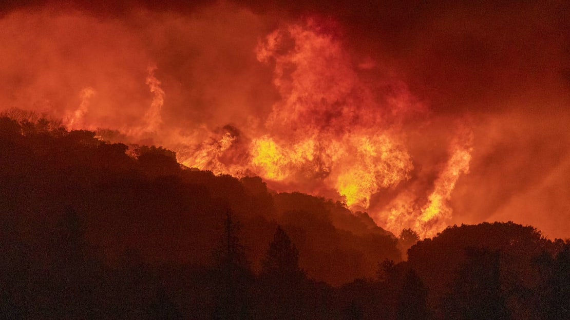 A wildfire near Shaver Lake, California, earlier this month.