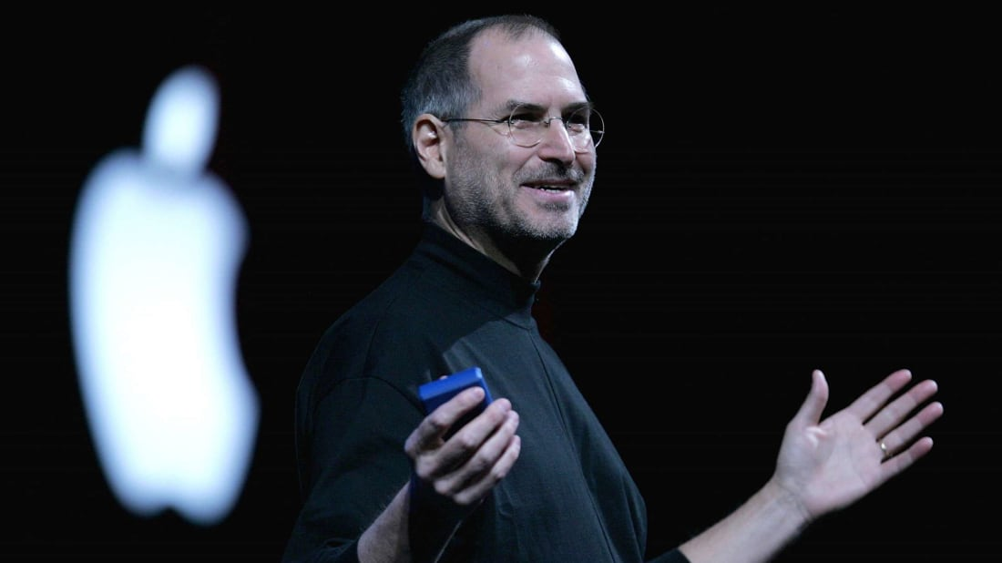 Apple CEO Steve Jobs delivers a keynote address at the 2005 Macworld Expo in San Francisco, California.