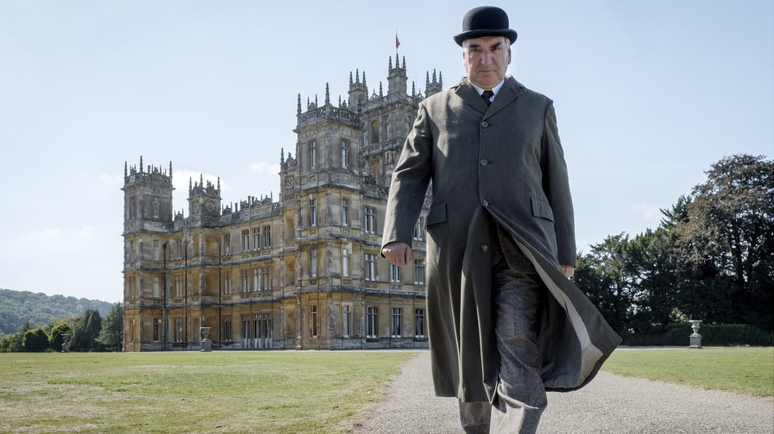 Jim Carter as Mr. Carson in Downton Abbey (2019).