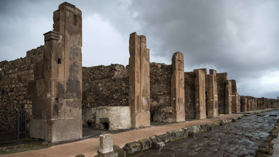 A photo of the Pompeii ruins from November 2019.