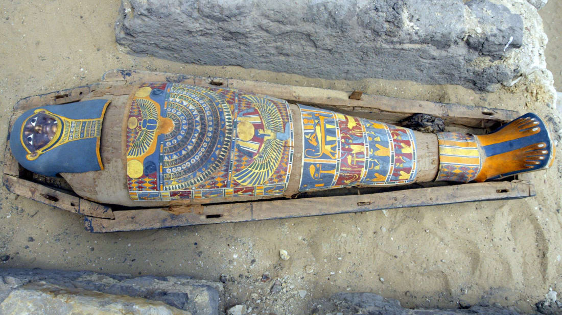 A 2300-year-old mummy from Egypt's Saqqara Pyramids complex