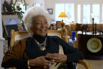 Nichelle Nichols in Woman in Motion: Nichelle Nichols, Star Trek and the Remaking of NASA (2021).