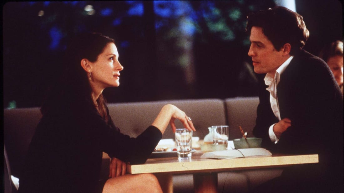 Julia Roberts and Hugh Grant in 1999's Notting Hill.