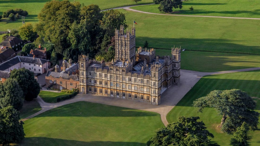 Highclere Castle, the filming location for Downton Abbey.