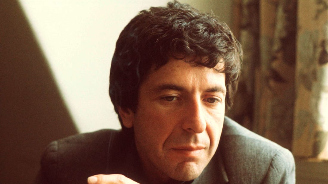 Leonard Cohen in London in June 1974.