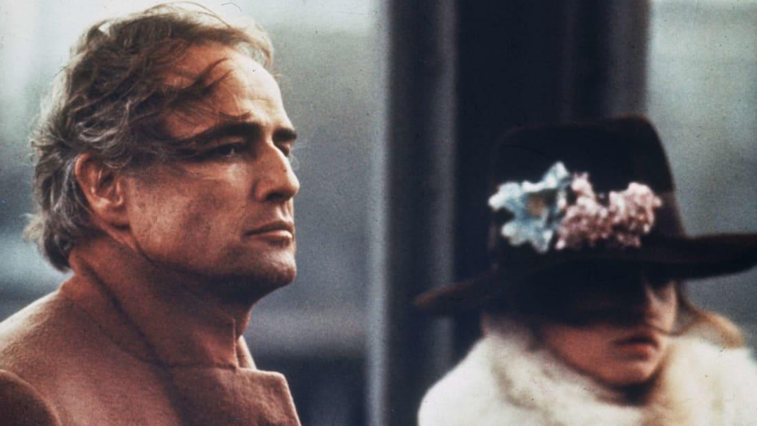 Marlon Brando and Maria Schneider in Last Tango in Paris (1972).
