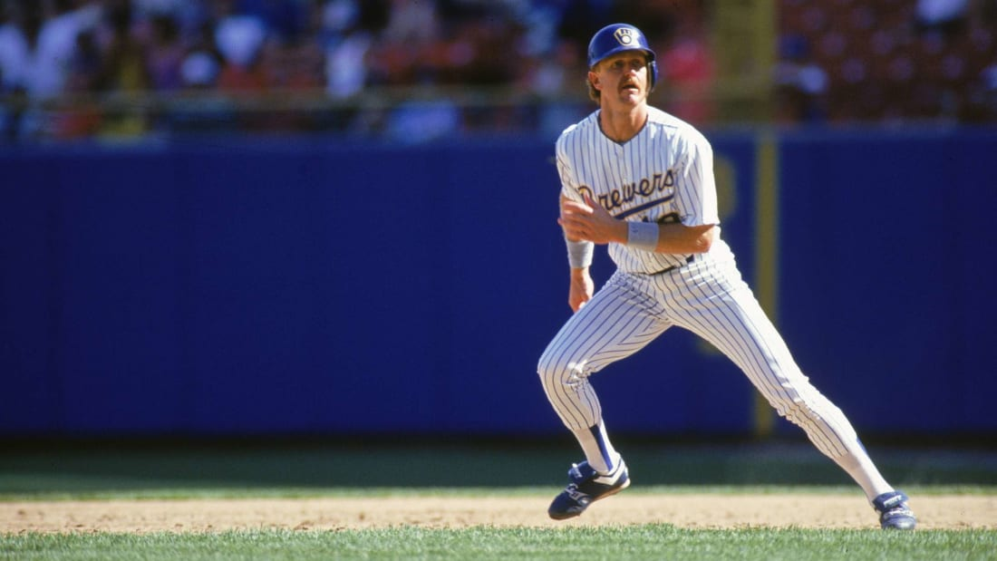 Actual Milwaukee Brewer Robin Yount wearing his own uniform during a home game in the 1970s.