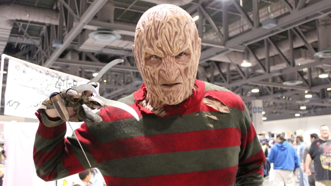 A sweater-clad cosplayer at Long Beach's Comic and Horror Con in 2012.