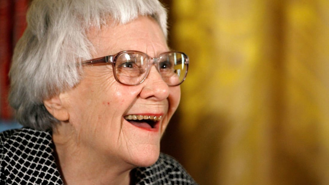 To Kill A Mockingbird author Harper Lee smiles before receiving the 2007 Presidential Medal of Freedom in 2007.