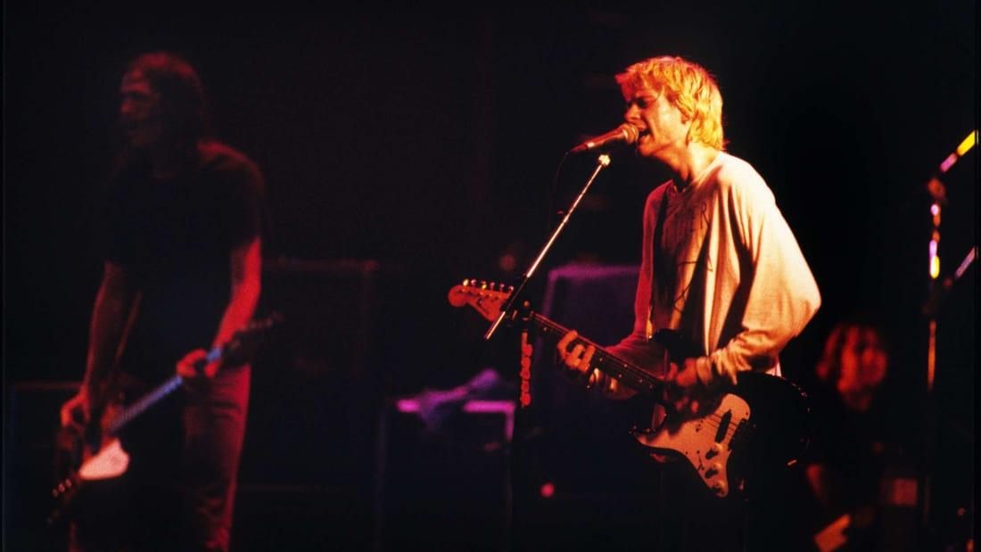 Nirvana performing in Paris in 1992.