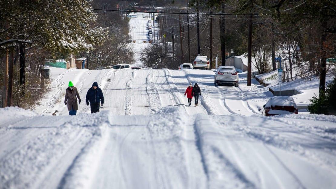 Austin, Texas, after winter storm Uri.